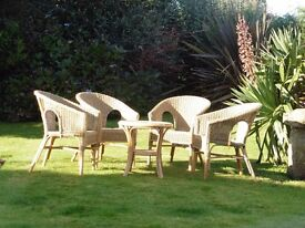 CONSERVATORY / SUMMERHOUSE / GARDEN ROOM FURNITURE - TABLE & CHAIRS