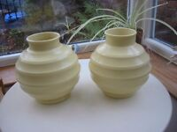 Pair of Keith Murray Football vases