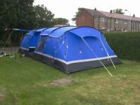 Kalahari 10 (ten man tent) plus two ring and grill stove and gas bottle with extras