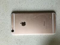 Gold iPhone 6 with box/charger and headphones