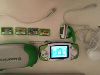 Leap Pad Bundle - Leapster GS & Leap Band Charger Case & games All cables Educational Xmas gift