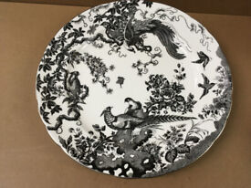 Rare Retired Royal Crown Derby Black Aves Platinum Chop plate rrp 395.00£ - brand new -