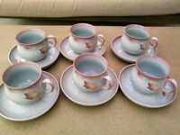 Denby Twilight, perfect condition - 6 cups and saucers