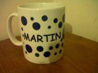 Personalised MUG CUP - MARTIN