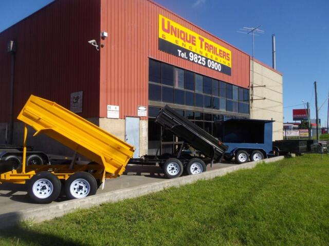 Tipper trailer hydraulic tandem axle trailers