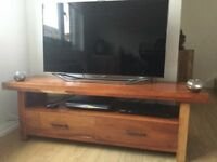 Stunning Solid Acacia Wood TV Unit