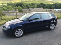 AUDI A3 2.0TDI 6 SPEED MANUAL FULL AUDI SERVICE HISTORY XENON LIGHT