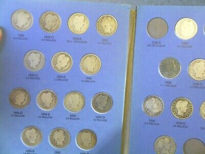 1892 to 1905 collection of Barber Quarters - better dates - 35 coins  (Best Coins To Collect)