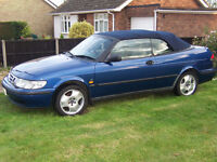 Saab 2.0 litre 9-3 SE convertible with electric roof - cheap summer fun