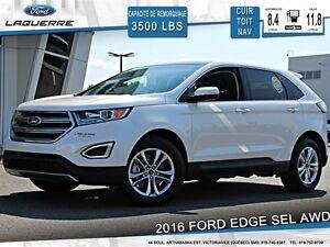 2016 Ford Edge **SEL*AWD*CUIR*TOIT*NAVI*CAMERA*A/C**