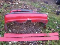 Bmw e39 5 series alpina style body kit bumper side skirts
