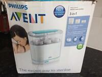 Philips Avent 3 in 1 electric steriliser. 2 bottles.