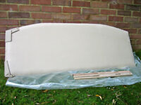 Double bed headboard as new Suade material.
