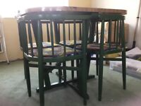 1970's kitchen table and 4 chairs