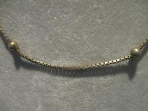 EXTREMELY FINE STERLING-LIKE 4-SIDED BOX CHAIN NECKLACE