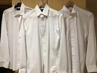Gents Highland Dress Kilt Shirts x 3, all size 14.5 collar.