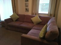 DFS Corner Sofa & Poofy