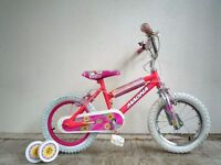 """(1872) 14"""" MAGNA GROOVIN Girls Kids Childs Bike Bicycle+STABILISERS Age: 3-5 Height: 95-110 cm Pink"""