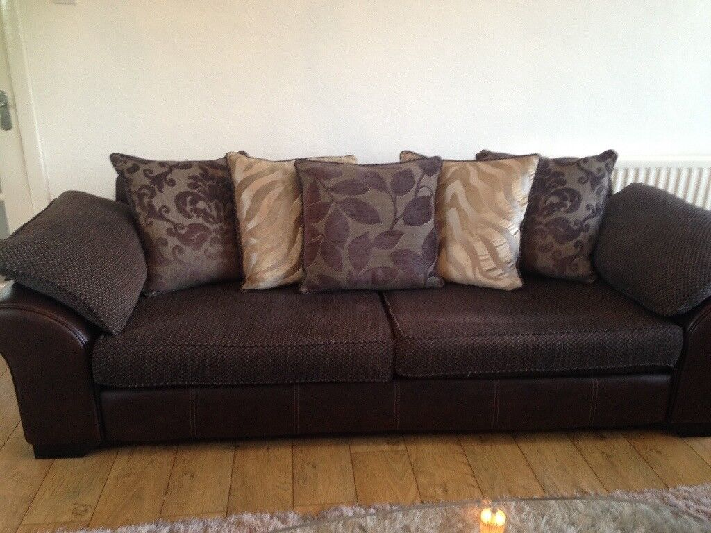 Sofa 4 Amp 2 Seater Brown In Castlereagh Belfast Gumtree