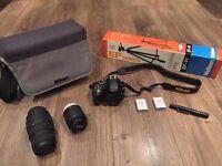 Nikon DSLR 3300 / Velbon tripod / Nikon & Sigma lens / 64gb SD card / Accessory & cleaning kit