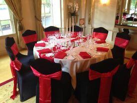 Venue Light Hire Uplighter rental £25 Wedding Head table decoration Hire £35 Wedding Glass Hire 19p