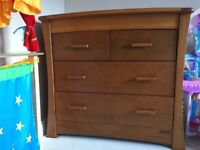Mamas & Papas solid wood set. Cotbed, wardrobe & chest of drawers (convertible changing table)