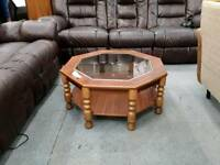 Retro Octogan Shaped Coffee Table. Fast Delivery