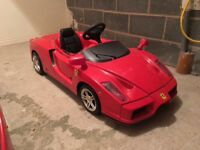 Kids Ferrari electric car imported from Italy can deliver