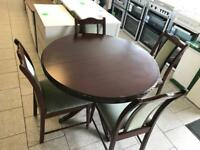 Round table and chairs £50