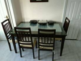 Dining Table with Four Chairs - price reduced