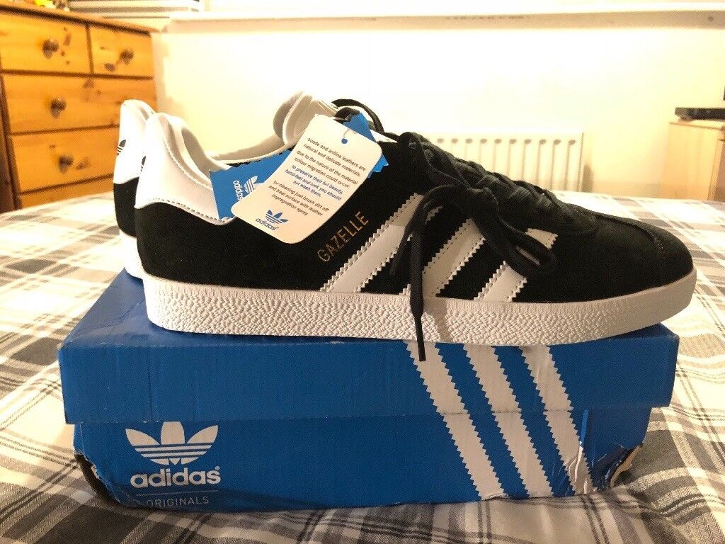 Adidas Gazelle BlackWhite Size 9.5 New in box | in Sidcup, London | Gumtree