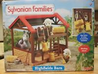 Sylvanian Families Highfields Barn with Box and accessories