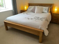 NEW Hearts of Oak Solid Oak Kingsize Bed RRP £554