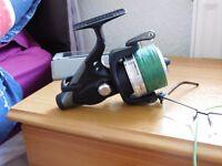 2x Okuma powerliner carp fishing reel Baitrunners