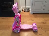 My little Pony 2 in 1 scooter and ride on toy