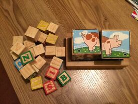 Melissa and Doug farm sound and stacking blocks