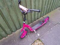 Girls big wheel scooter