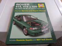 ROVER 414, 416 & 420 HAYNES MANUAL