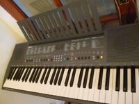 full size yamaha psr 300 keyboard,various voices,styles,built in stereo speakers,power supply,v/good