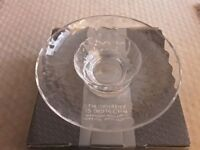 VINTAGE DARTINGTON CRYSTAL GLASS CHIP & DIP BOWLS - ORIGINAL BOX, NEVER USED