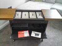 Vintage Ekco Royal hostess trolley excellent condition with original instruction book & guarantee