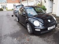 Black VW Beetle SPARES / REPAIRS 1.6 MOT until September, Running
