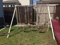 Children's Swing Set With a Free turtle-shaped Sand Pit