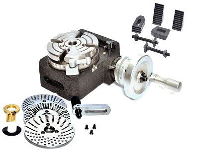 Hv4 Rotary Table4 Slot With Dividing Plateindexing Plate M8 Clamping Kit