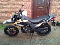 2012 Keeway TX 125 motorcycle, super moto style, new 1 year MOT, very low miles, bargain, not cbf xr