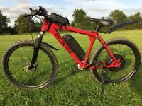 Mountain bike New ebike 1500 watt hub motor 17.5 Ah battery