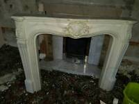 marble effect Fire Surround