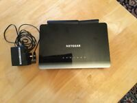 Netgear d 3600 modem with adaptor 1year old £25 can deliver if local call 07812980350