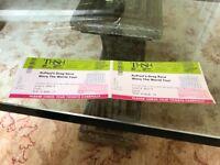 RuPauls Drag Race Werq The World 2x tickets.Birmingham 27th May