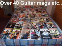 "Guitar Magazines etc.. (Over 40 & also some tutorial books etc...) Also some ""Special"" Edition Mags."